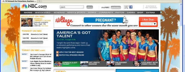 Ishaara on NBC Home Page